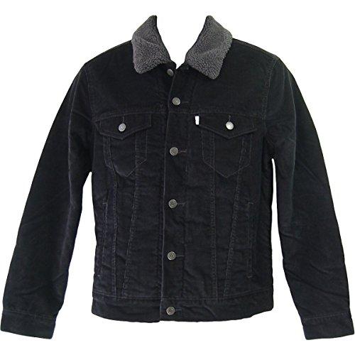 Levi's® Sherpa Trucker Jacket - Cord - gefüttert - Black, Größe:XS