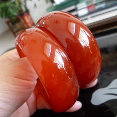 Raindrop Widening Thick Red Agate Marrow to Financial sales sale In stock Send Aortar Bracelet