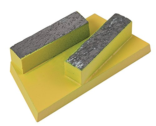 CS Unitec 37123 Diamond Inserts for Adhesive and Screed,for EBS 235.1 Floor Grinder, Yellow, (Pack of 5)