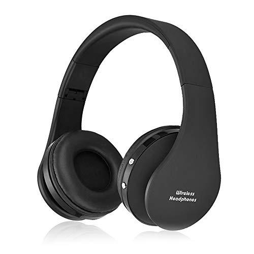 Docooler Audífonos inalámbricos Bluetooth estéreo plegables, inalámbricos y con cable con auriculares suaves de proteína de memoria, micrófono integrado, para teléfono móvil, PC y ordenador portátil
