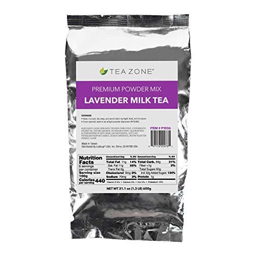 Tea Zone 1.32 lb Lavender Milk Tea Powder