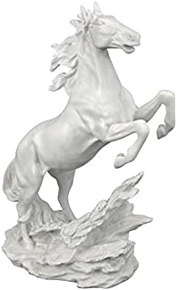 Design Toscano Untamed Beauty Bonded Marble Horse Statue, White