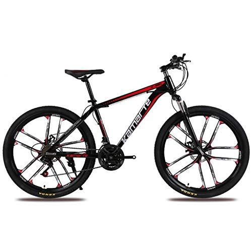 """WGYDREAM Bicicleta Montaña MTB 26"""" Las Mujeres/Hombres De Bicicletas De Montaña 21/24/27 Marco Speed Carbono Acero Suspensión Delantera Rueda Integral Bicicleta de Montaña"""