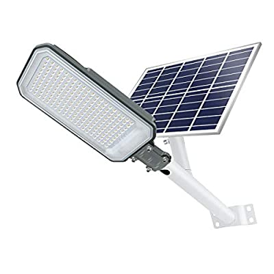 STASUN Solar Street Light, 200W Dusk to Dawn Outdoor Solar Light with Remote Control, 6000K Daylight White, IP65 Waterproof LED Security Pole Light for Yard, Pathway, Garden