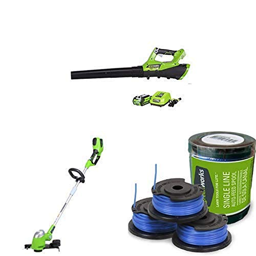 Read About Greenworks 110 MPH - 390 CFM Cordless Jet Blower, 2.5 AH Battery Included with 13-Inch 40...