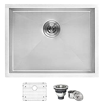 Ruvati 23  x 18  x 12  Deep Laundry Utility Sink Undermount 16 Gauge Stainless Steel - RVU6100