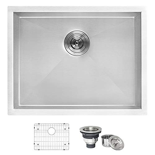 Ruvati 23' x 18' x 12' Deep Laundry Utility Sink Undermount 16 Gauge Stainless Steel - RVU6100