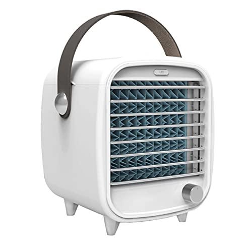 Dswe Mini Enfriador USB Recargable portátil pequeño Ventilador de Aire Acondicionado de refrigeración Mini luz Nocturna Ventilador de enfriamiento de Hielo