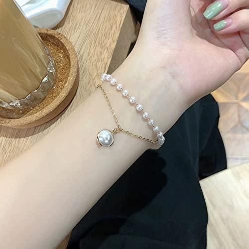 woyada Pulsera de perlas, simple y elegante, con forma de gotas, perfecto regalo de cumpleaños para el día de San Valentín para niñas
