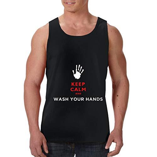 I Survived Coronaviru 2020 Keep Calm Wash Hand T-Shirt Quick-Dry Tank Top Shirt Gym Sleeveless Tank Sleeveless Garment for Mens