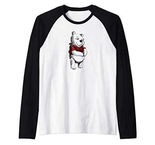Disney Winnie the Pooh Sketch Raglan Baseball Tee