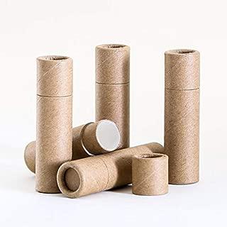 6 mL Kraft Paperboard Lip Balm/Salve/Cosmetic/Lotion Tubes x 100