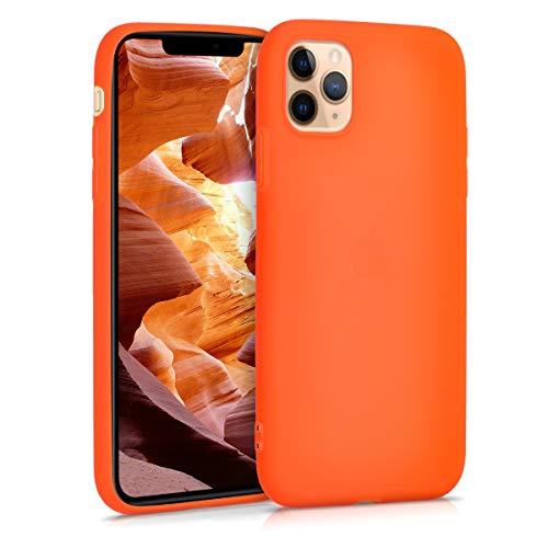 kwmobile Hülle kompatibel mit Apple iPhone 11 Pro Max - Hülle Handyhülle - Handy Hülle in Neon Orange