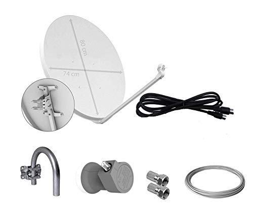 9. Tecatel – Antena parabólica de 80 cm. | Doblemente resistente.