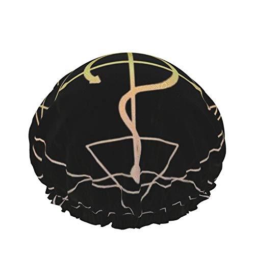 Fullmetal Alchemist - Gorro de ducha para mujer, doble capa, impermeable, diseño de forro de Eva, para mujeres, niñas, spa, uso en el hogar, hotel y peluquería
