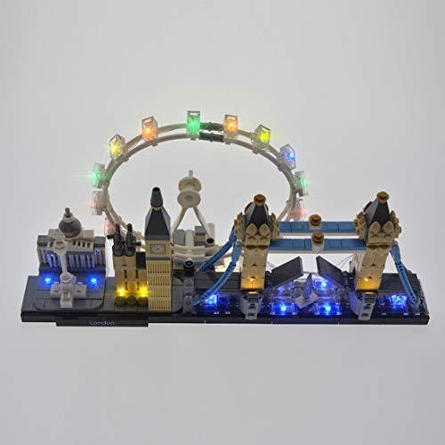 POXL Licht-Set Für Lego Architecture London Skyline 21034 - LED Licht Set Led Beleuchtungsset - Modell Nicht Enthalten