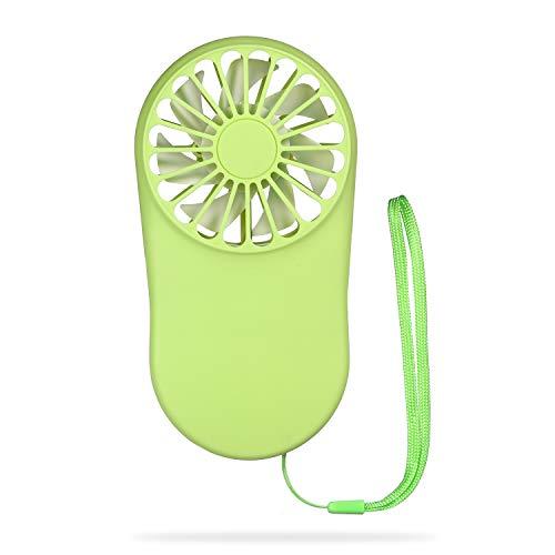 Mini ventilador portátil Velocidad ajustable USB Recargable Ventilador de mano Ventilador de enfriamiento personal Ventilador de bolsillo con cuerda colgante para viajes al aire libre Oficina en el
