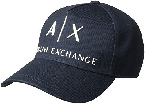 Armani Exchange Corp Logo Baseball Cap Gorra de béisbol, Azul (Navy/Navy 37735), Talla Única (Talla del Fabricante: TU) para Hombre