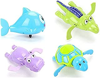 Wind Up Sea Animal Bath Toy - Manual Motorized Flipper Action, Adorable Sea Critter Toys for Babies and Toddlers, Bath Tim...