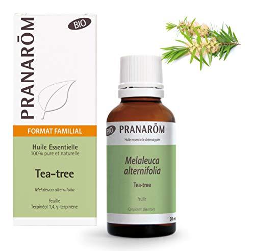 Pranarôm - Huile Essentielle de Tea Tree Bio (Eco) - Arbre à Thé - Melaleuca alternifolia - Feuille - Format Familial - 30 ml