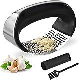 Yoboo® Garlic Press Garlic Crusher Kitchen Garlic Rocker 304 Food Grade Stainless Steel