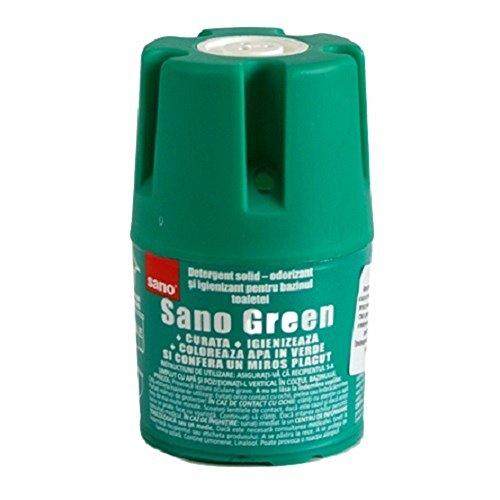 Sano Green Water Wc - Detergente per WC e tablet, a lunga durata, 150 g, confezione da 1