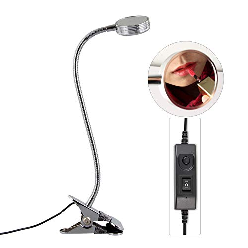 WFL-lámpara de escritorio Escritorio de la lámpara LED, regulable en color de belleza de uñas maquillaje Espejo Clip USB lámpara de mesa Desarrollado Tabla metal lámpara de estudio de la lámpara Lámpa