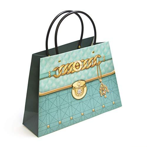 Zoolgunsten Gem & Goud Ontwerp Papier portemonnee Gevormde Party Gift Bag met Plastic Handvat - Decoratieve Handtas Party Stijl - Selecteer uw kleur
