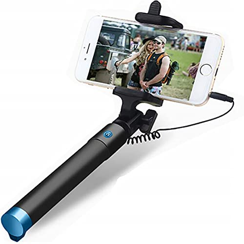 Retoo Erweiterbar Selfie Stick 78cm mit 360 Grad drehbarer, rutschfest Einbeinstativ mit Hand Griff und Griffbereich 90MM, Monopad für Self Portrait, iOS, Android, Smartphone, Teleskop Stab, Schwarz
