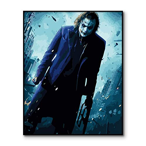yaoxingfu Jigsaw puzzle 1000 piece Joker movie poster jigsaw puzzle 1000 piece Educational Intellectual Decompressing Toy Puzzles Fun Family Game for Kids Adults50x75cm(20x30inch)