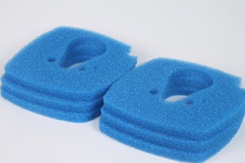 LTWHOME Blauer Rauher Filterschwamm Passend für Eheim Professional 3 Vorfiltermatte 2080/2180 (6 Stück)