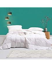Amazon Brand-Umi Couette en Duvet et plumette d'oie Blanche avec Housse 100 % Coton Anti-Duvet
