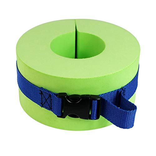 GLJYG Swim Armband Eva Foam Floating Ring Swim Aquatic Cuffs Durable Adjustable Ankles Arms Belts With Quick Release Buckle for Kids Adult,Green