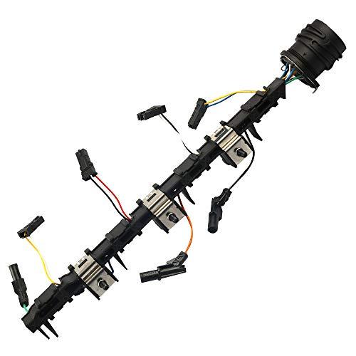 Leitungssatz Einpritzdüse Pumpe Düse 2.0 TDI 170 PS Injektor Kabelbaum Adapter 4 Zylinder TDI Pumpe-Düse 03G971033M Kompatibel mit VW AUDI Golf Seat Skoda