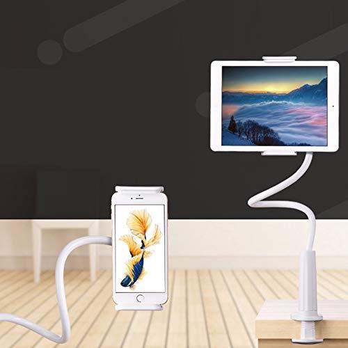 CPAZT Stretchable Telefoonhouder Flexibele Lange Arm Luie Telefoonhouders Klem Bed Tablet Auto Selfie Mount Bracket, Rood