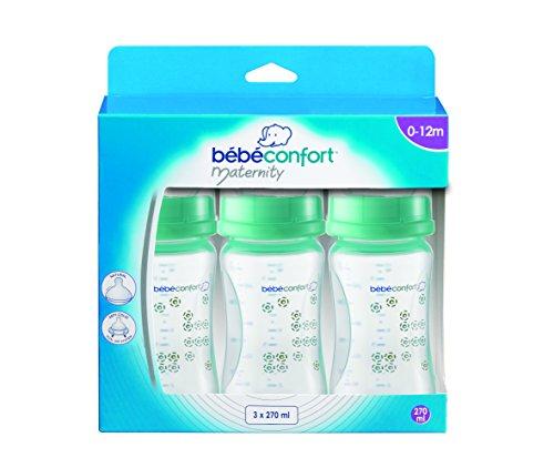 Bébé Confort Lot de 3 Biberons Col grande Maternidad polipropilenos Bleu 270ml