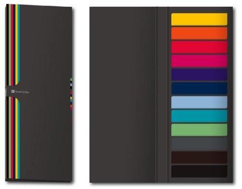 Semikolon (353102) Sticky Page Markers - Haftstreifen, Haftmarker, Klebezettel -Je 50 Folienstreifen in 12 verschiedene Farben im Format 5x1 cm