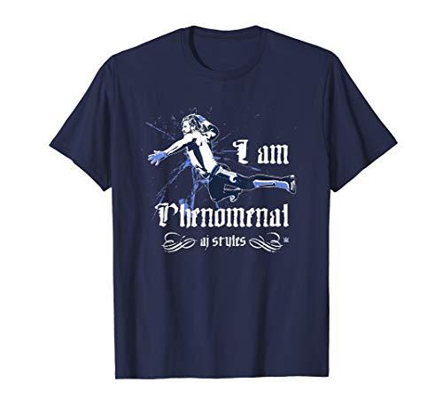 WWE I Am Phenomenal AJ Styles Old English T-Shirt