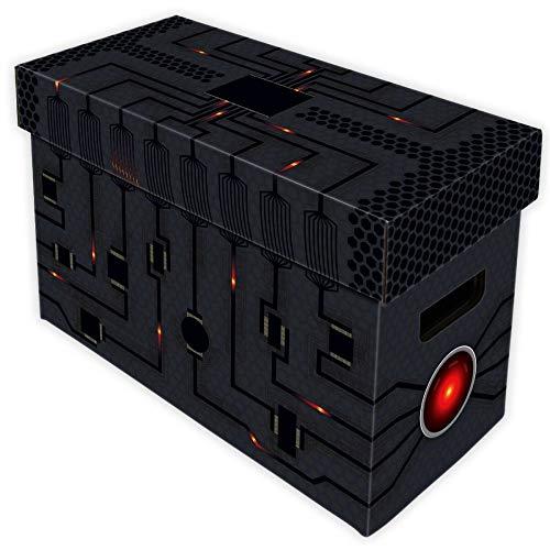 Una caja de realmente útil y artísticas, Dave Espesor doble asas y parte inferior stack-able Capacidad: 150–175Comics