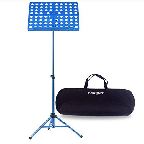 Notenständer Orchesterpult Klappbare mit Tragetasche Max Tragkraft 5Kg Höhenverstellbarer Bereich von 70 bis 150CM Geeignet für die Halten Ihrer Musik Buch, Ipad, Laptop (Blau)