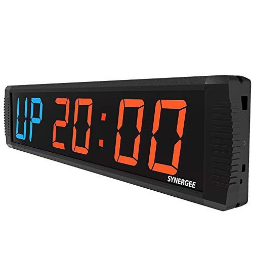 "Synergee 29"" Premium LED Programmable Crossfit Interval Wall Timer Gym Timer with Wireless Remote. Tabata, EMOTM, Stopwatch, Count Up/Down, MMA, Clock."