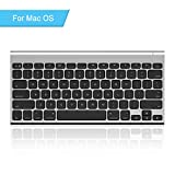 Rechargeable Bluetooth Keyboard for Mac OS, Jelly Comb Ultra Compact...