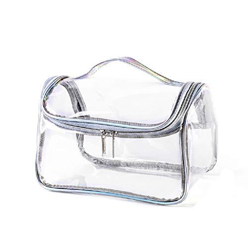 Sac cosmétique Femelle Portable Grande capacité Sac de Rangement cosmétique Ins Vent Super feu Paquet de Toilette de Voyage Portable FANJIANI (Color : Colorful Laser)