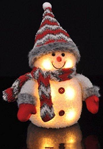 Gravidus LED Deko Schneemann Weihnachten Beleuchtung (rot)
