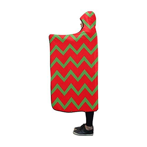 Rtosd Couverture à Capuche Zigzag Line Blanket Wrap à Capuche Comfotable