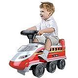 Deluxe Tren de juguete for los niños -Train montar a caballo de juguete, juguete operado con 4 coches del tren del juguete - la Navidad linda del tren de vacaciones, deformados coche de juguete con la