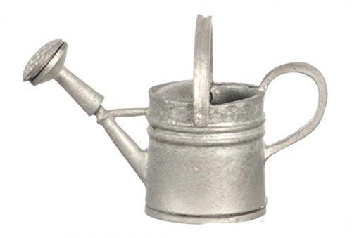 Arrosoir métal gris accessoire de jardin miniature échelle 1:12 maison de poupée