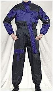 1ピースオートバイRain Suitブラック/ブルー M ブラック RS2200-RAIN-SUIT-DL-MD