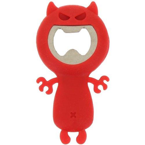 Fun Diable en Silicone en Forme Décapsuleur en Rouge