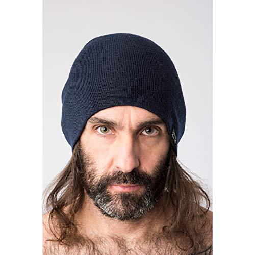 super.natural Bonnet en Laine, Mixte, Laine Mérinos, MERINO BEANIE, Taille Unique, Bleu clair chiné